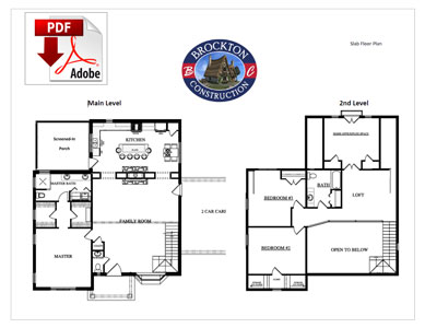 Level lot floor plan image